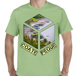 Camiseta 2 Verde Claro, Lago de Coatepeque, Coatepeque, Santa Ana, El Salvador.