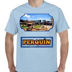 Camiseta Celeste Cerro de Perquín, Perquín, Morazán, El Salvador.