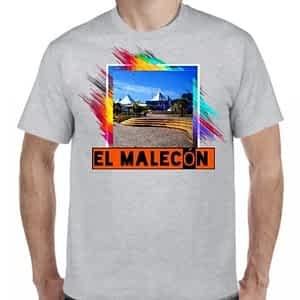 Camiseta Gris Claro, El Malecón, Puerto de la Libertad, La Libertad.