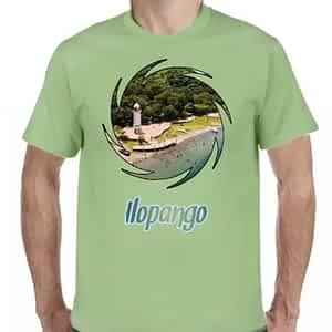 Camiseta Verde Claro, Lago de Ilopango, Ilopango, San Salvador, El Salvador.