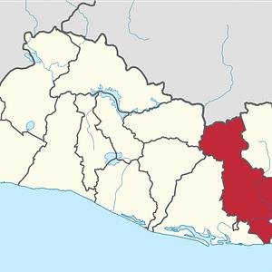 Mapa San Miguel, El Salvador