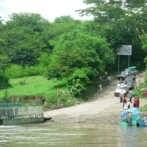 Paso en Ferry del Río Lempa, Nuevo Edén de San Juan, San Miguel, El Salvador